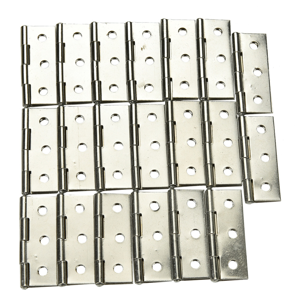 "10 Sets Stainless steel Cabinet Door Hinge 6 Holes Boat Marine Cabinet Butt Hinge 2"" With Screws(China (Mainland))"