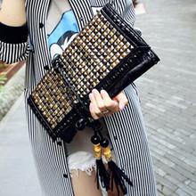 Famous Brands Women Leather Handbags Designer Envelope Clutch Bag Evening Shoulder Bags Luxury Tassel Bags Hand Bags Purses