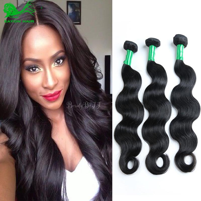 Гаджет  Eayon Hair Products Peruvian Hair Body Wave 100% Human Hair Mix Length 8-30 inch 3Pcs/lot 6A Natural Black Peruvian Virgin Hair  None Волосы и аксессуары