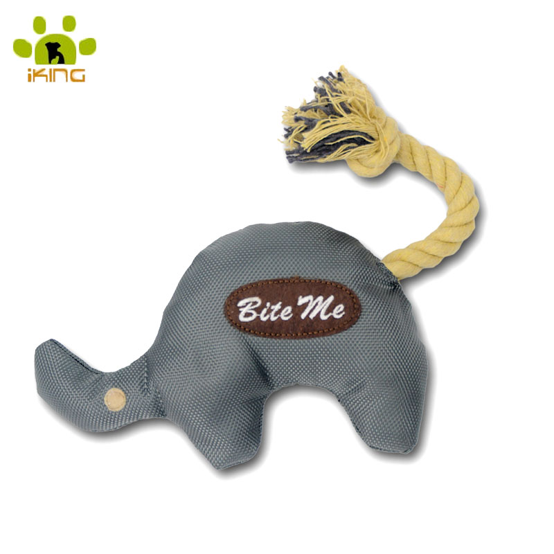 Brand Dogs toys for large dogs Grey Elephant Shape Pet Puppy Oxford Material Cotton Stuffer With Rope Tail Chew Ineractive Toys(China (Mainland))