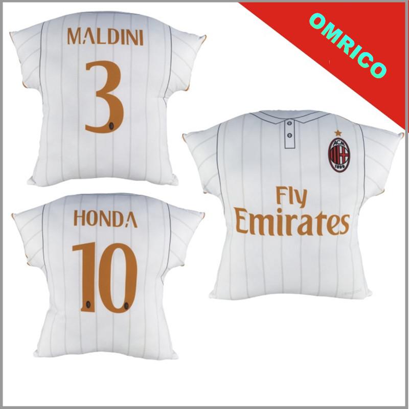 2016 2017 Cougar Soccer Jersey AC Milan Away from Home Cushion Pillow Sofa Auto Decorative Pillows Maldini Kaka Free Shipping(China (Mainland))