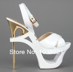 2014 Newest Fashion Super High Heels Gladiator Sandals Women Pumps Abnormal Heels Sexy Peep Toe  Shoes Woman Platform Sandals