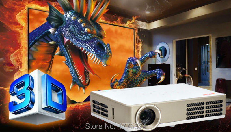 DLP300W Full HD New Android Smart Mini Projector LCD 3D WIFI Home Theater Protable Beamer DLP Projektor 1080p HDMI/USB/VGA/AV(China (Mainland))