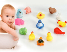 bath toy FreeShip 13pcs Squeeze-sounding Animals Bathing Water Toys no harm to children good gift for baby