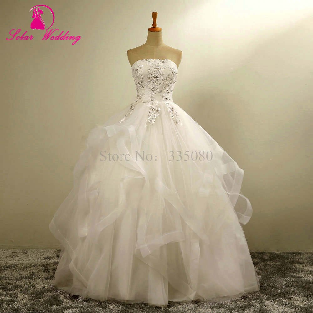 Wedding Dresses With Crystals : Aliexpress buy vestidos de noiva renda bridal