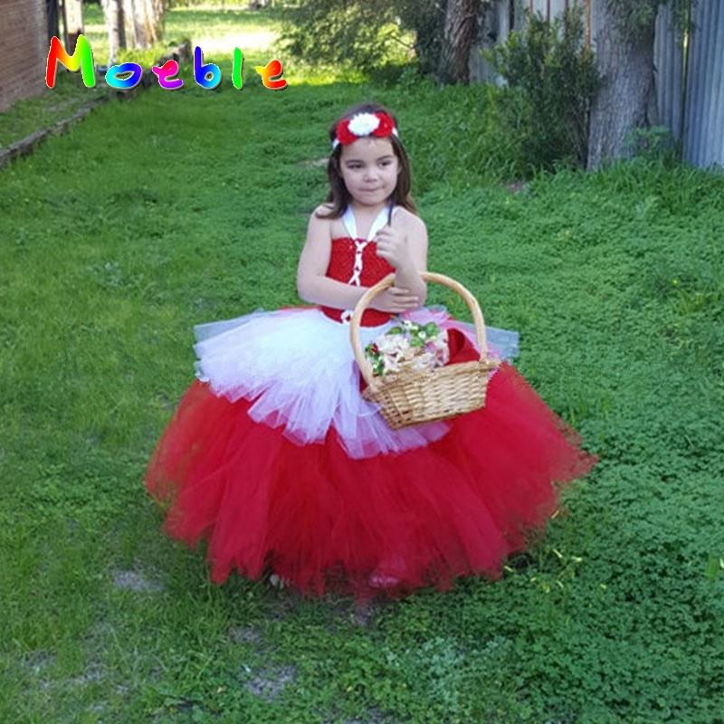 Little Red Riding Hood Children Girls Halloween Christmas Costume Tutu Dress Girls Cosplay Tutu Baby Girls Birthday Gift DT-1640(China (Mainland))