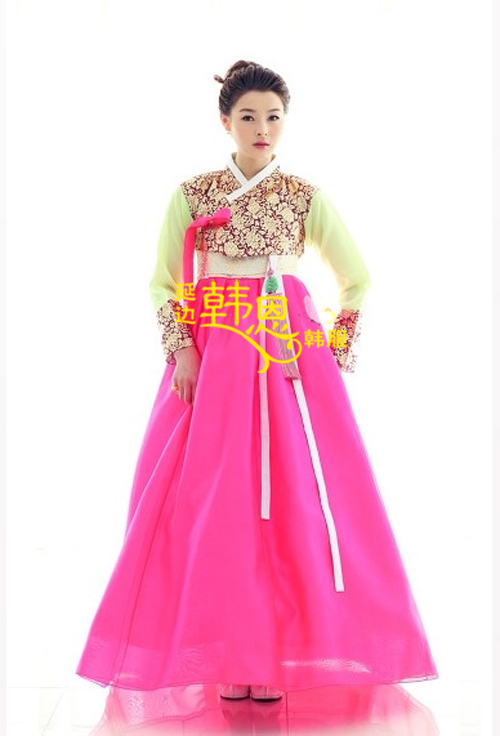 Hanbok vestido por encargo coreano tradicional de novia coreana modificado Hanbok de la cintura tradicional coreano Hanbok ropa HE-GL1101(China (Mainland))
