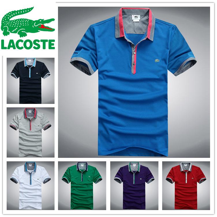 Novo 2015 mens barato T-Shirt de algodão LA costingly homens manga curta moda polos T Shirt tommyed polo T-Shirt cobre T(China (Mainland))
