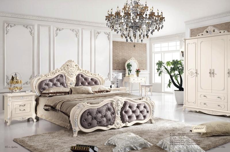 Antique Style French Furnitur Elegant Bedroom Sets Py 6005