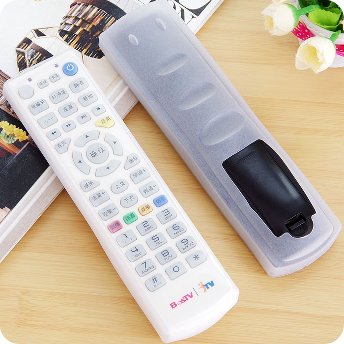 Hot Sale TV Remote Control Fluorescent Dust cover Silicone Air Conditioning Protective storage bag Organizer Items Accessories(China (Mainland))