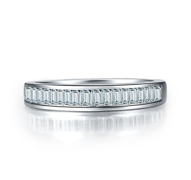Luxury wholesale 0.5CT SONA Synthetic Diamond women wedding 925 sterling silver 18K Gold platinum plated engagement jewellery(China (Mainland))