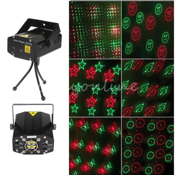 New XL-072 Mini Voice Automatic Control R&G Laser Light Lighting Projector Stage DJ Disco Xmas Party Show Star Club Bar + Tripod