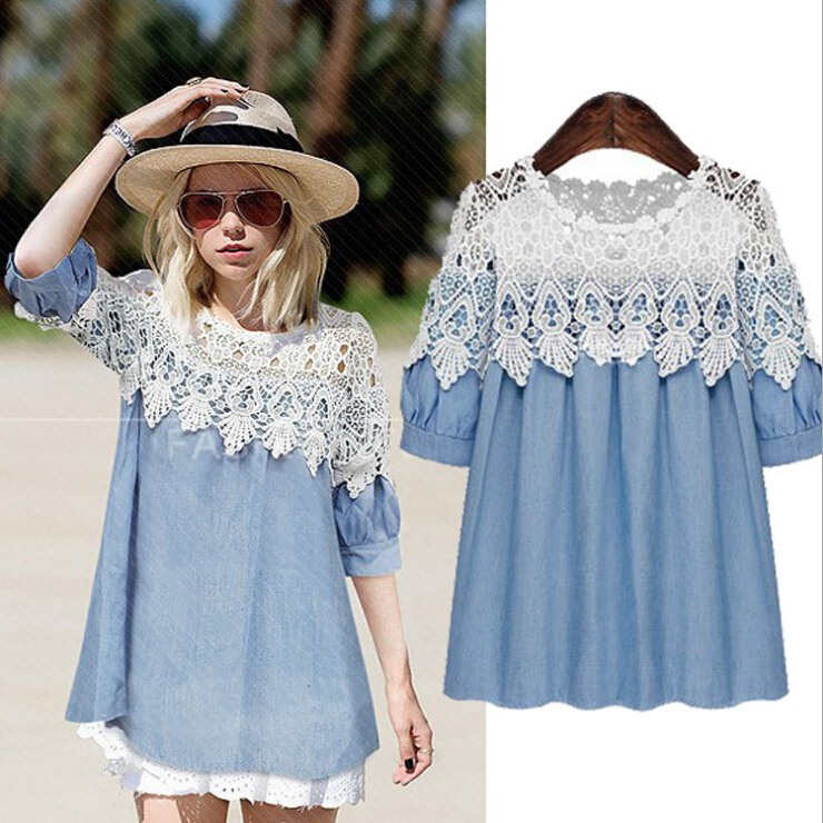Wonderful  Blue Dress  Chambray Dress  Long Sleeve Dress  Shirt Dress  8600