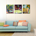 3 panel decorative landscape printed triptych painting on canvas Abstract modern wall picture for living room