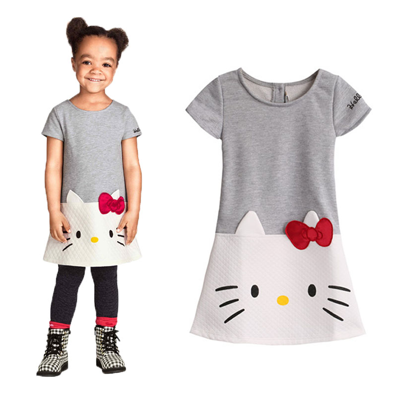 Hello Kitty Baby Girls Dresses Kids Clothes 2016 Brand Children Dress For Girls Clothes Princess Dress Christmas Vetement Fille(China (Mainland))