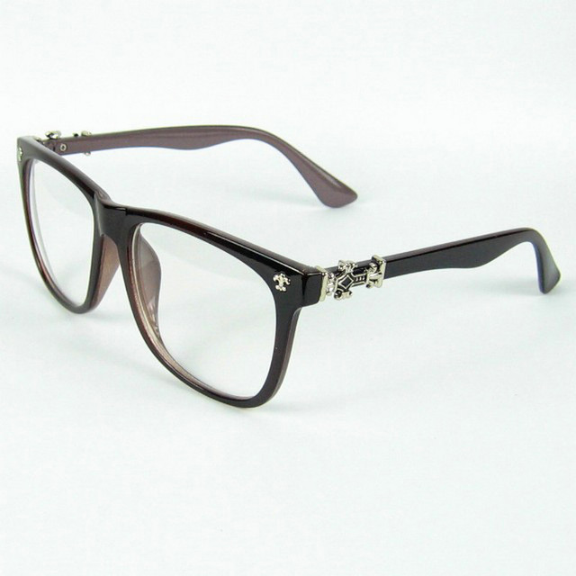Are Plastic Eyeglass Frames In Style : Gothic Style Cross Rivet Optical Glasses Plastic Frame ...