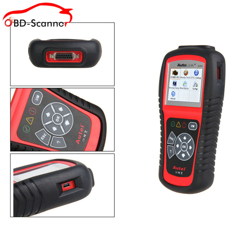 diagnostic-tool Autel Autolink AL519 obd scan TFT Color Screen OBDII/CAN Scan Tool Read & Clear Trouble Code(China (Mainland))