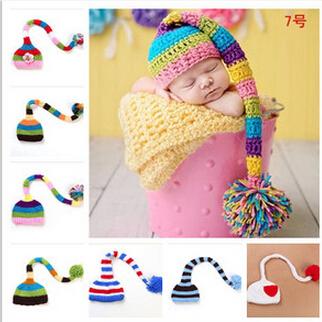 NEW! ELF Newborn Hat Baby Pixie Elf Christmas Beanies,Handmade Crochet Photography Props Baby Hat,toddler photo props(China (Mainland))