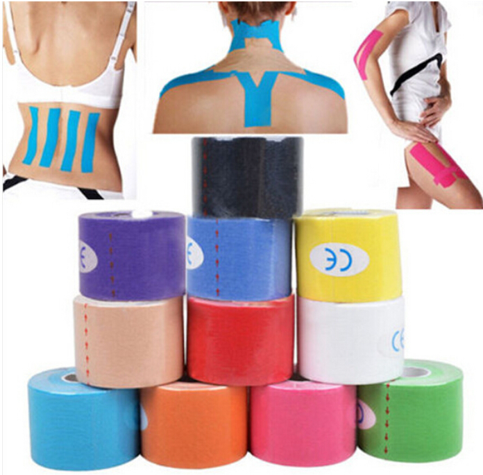 produto y711-A 2015 5cm x 5m NEW Kinesiology Kinesio Roll Cotton Elastic Adhesive Muscle Sport Tape Bandage Physio Strain Injury Support