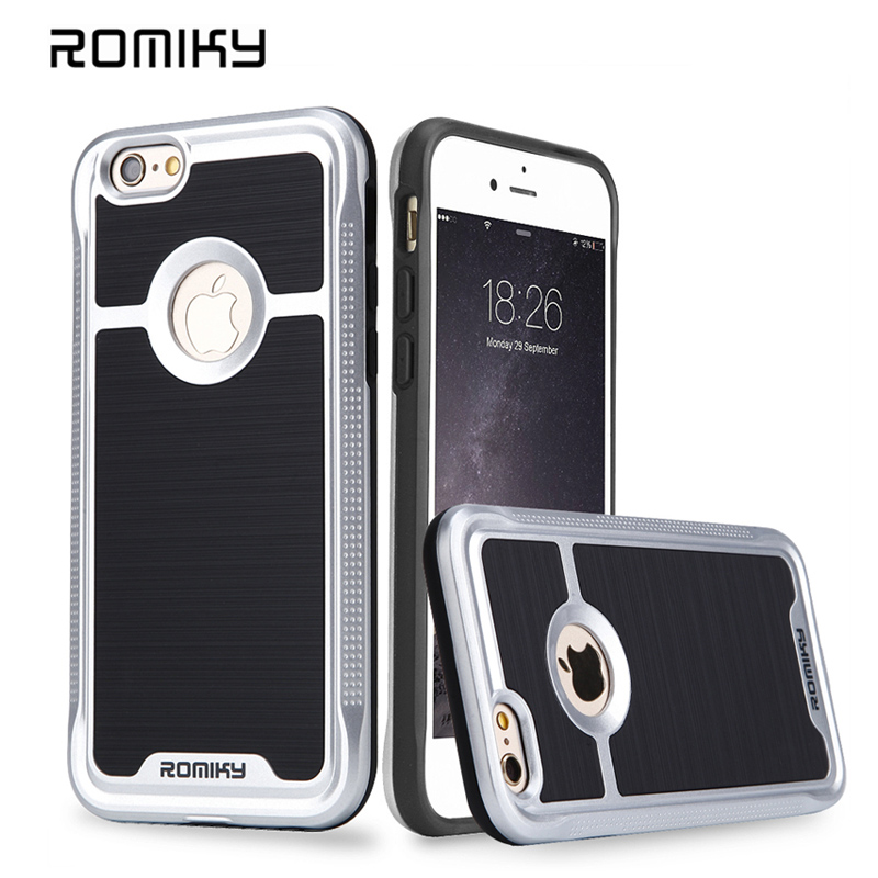 New ROMIKY Original brand 2 in 1 Hybrid Plastic TPU Soft Case for apple iphone 5s 5g SE drop proof brushed armor phone covers(China (Mainland))