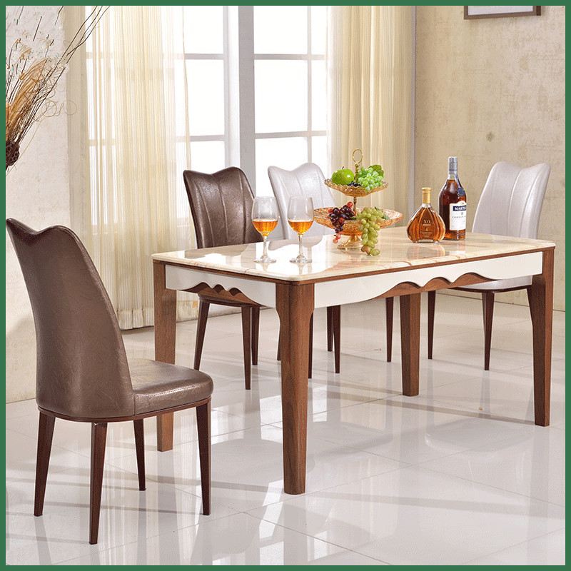 New Arrival Mediterranean Dining table stainless steel home furniture cheap dining table send from China(China (Mainland))