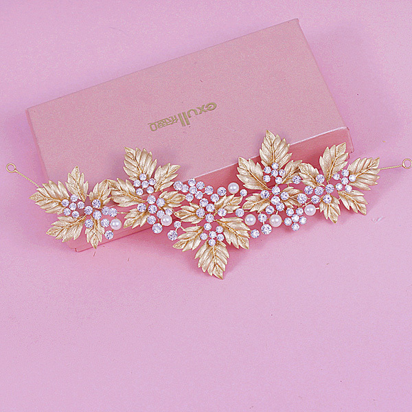 2015 New Trendy 18k Gold Plated Limited Rhinestones Royal Maple Leaf Tiaras And Crowns Luxury Headband For Wedding Gift Idea<br><br>Aliexpress