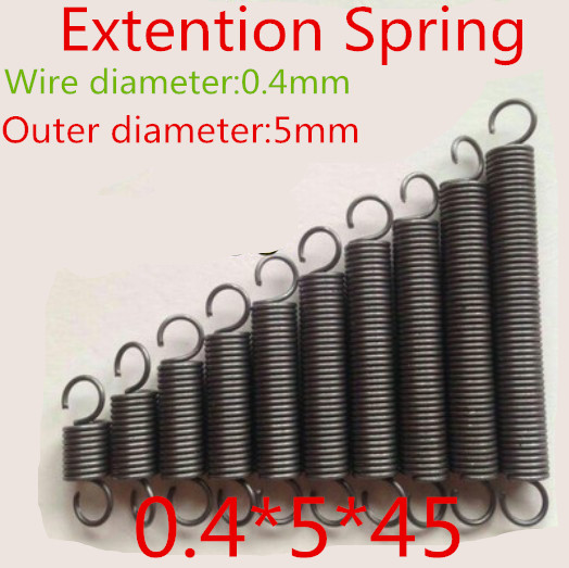 20pcs 0.4*5*45mm  Stainless Steel 304 Small coil extension spring with hook<br><br>Aliexpress