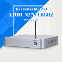 Highest cost effective computer N270 1g ram 16g ssd networking cheap mini pc station thin client home computer windos xp