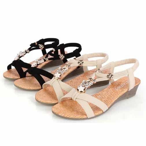 sandals 2015 open toe summer shoes wedge