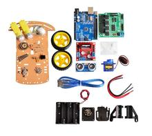 Buy New Avoidance tracking Motor Smart Robot Car Chassis Kit Speed Encoder Battery Box 2WD Ultrasonic module Arduino kit for $18.90 in AliExpress store