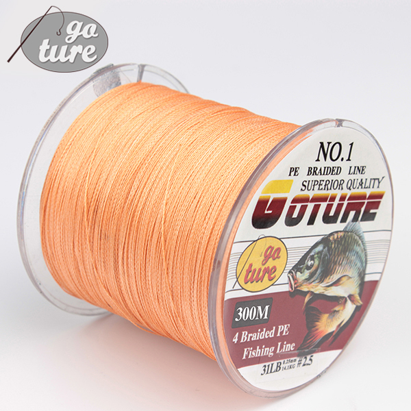 Goture 300m Super Strong Japan Multifilament PE Braided Fishing Line Spearfishing Rope Cord Carp Fishing Boat