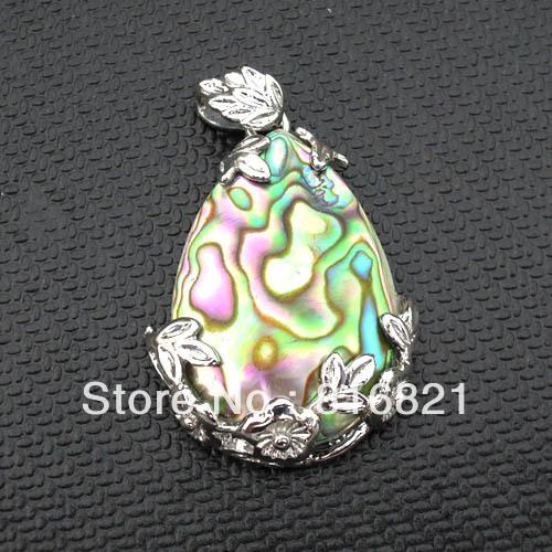 New Beautiful Gem stone Teardrop MOP Abalone Shell Pendant Beads(China (Mainland))