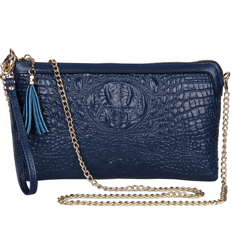 women leather Handbags 2014 women's genuine leather chain evening bag female tassel hand bag shoulder Messenger Bag clutch purse