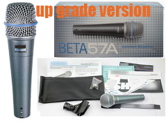 Free shipping BETA 57A 57 A handheld beta57 musical instrument  VOCAL karaoke Dynamic Microphone mic mike<br><br>Aliexpress