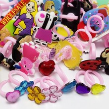 Wholesale New Novelty 1000pcs Crystal minions my little ponies Children Rings Kids lovely Travel Accessories party favor/gifts(China (Mainland))