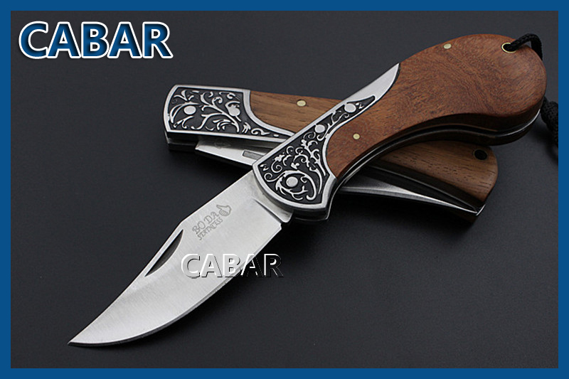 CABAR 2015 New Arrival 95 75 mm Single Blade Hunting Camping Diving Outdoor Knife Top Quality