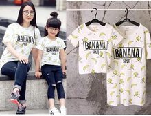 2016 Family Matching clothes Summer banana matching family outfits T-shirt family look mother and daughter clothes family set