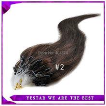 "18"" 20"" 22"" 24"" Natural Remy Italian Keratin Capsule Prebonded U/I Stick Flat Tip Hair Extensions 100s/pack Dark Brown #2 (China (Mainland))"