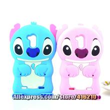 ZTE Blade V7 Lite Case 3D cute Cartoon Soft Rubber silicon Stitch Folding Ear - CustomUSB Technology Co., LTD store
