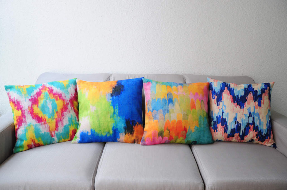 Throw Pillows Bulk : Aliexpress.com : Buy Wholesale Bright Geometric Print Decorative Throw Pillows 45*45CM Sofa ...