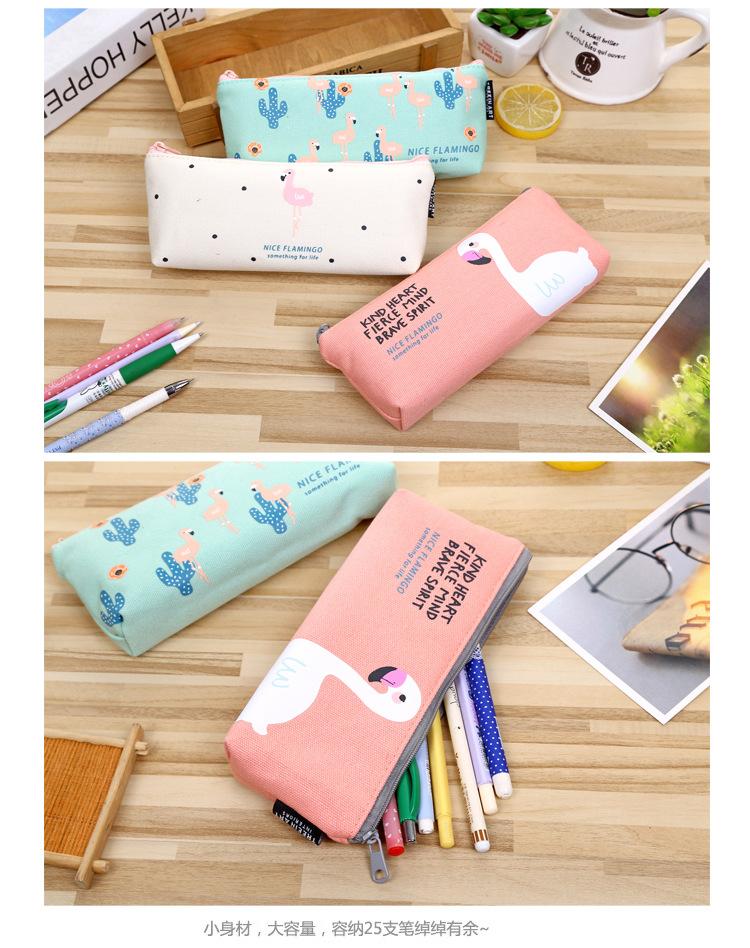 Modern Classroom Supplies ~ New arrival modern kawaii bird flamingo canvas pencil bag