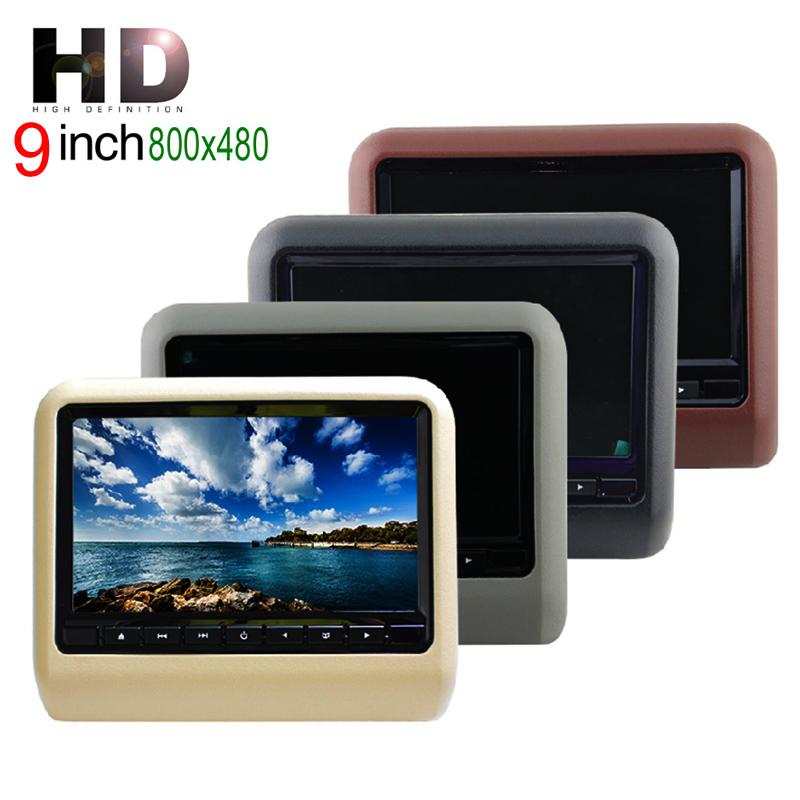 9Inch Car DVD Headrest Player Monitor With 32Bit Games+USB+SD+IR/FM Transmitter(China (Mainland))