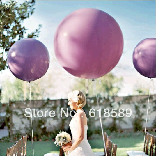 10pcs/lot 36 Inch(91cm) Super Big Large Wedding Decoration Birthday Party Ballons Thickening Multicolor Latex Giant Huge Balloon(China (Mainland))