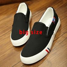 2016 Summer Canvas Blue Flats Shoes Large Size Shoes Women Lazy Big Size Men Shoes man