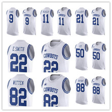 Men's Emmitt Tony Cole Jason Dez Ezekiel Romo Beasley Witten Bryant Elliott Smith 2016 Summer T-Shirts(China (Mainland))