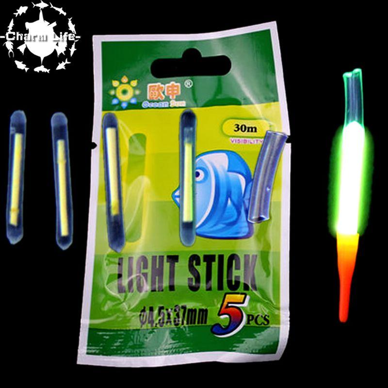 2016 fishing floats new 5set night fluorescent light best quality float glow stick light stick 4.5*37mm Pesca free shipping(China (Mainland))
