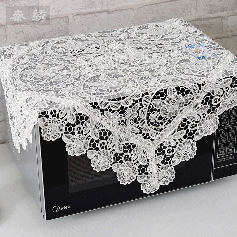 Thai Gai Buou embroidered white microwave refrigerator hollow air-conditioned multi-purpose high-end sofa cover towel