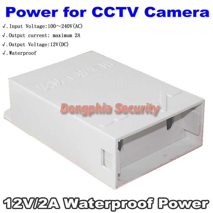 Waterproof Power Adapter CCTV Camera Accessories Professional DC12V 2A Power Supply for CCTV Camera Security System Accessory<br><br>Aliexpress
