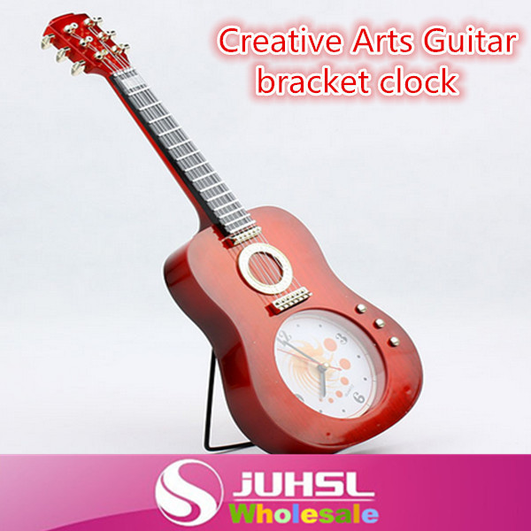 A-1 Creative Home Arts guitar wall clock, musical clock, gifts, household items, quarter-bell, snooze alarms