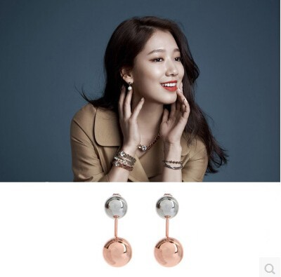 Fine Jewelry The Original Classic Korean Major Suit After Hanging Pinocchio With Park Shin Hye With Spherical Pendant Earrings(China (Mainland))